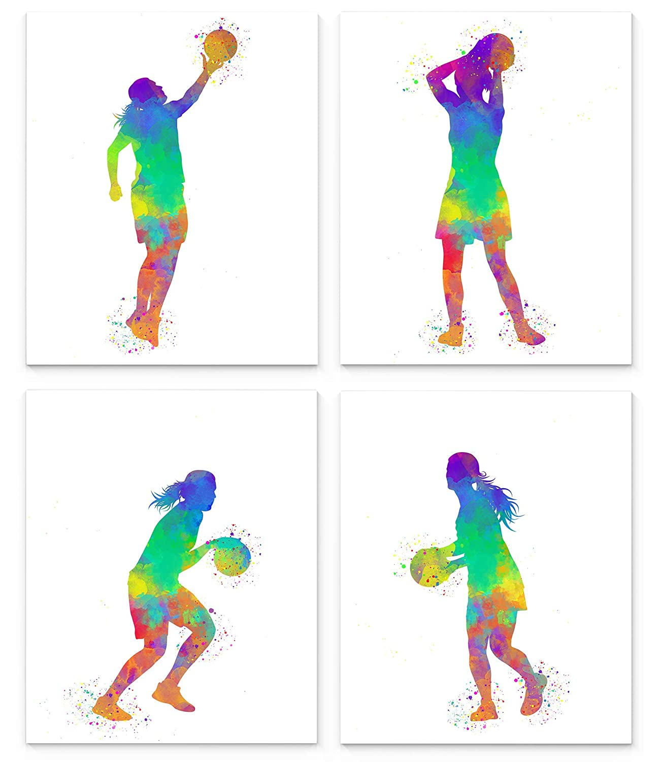 Max 84% OFF Female Basketball Player Sport Abstract Se OFFer Wall 8x10 Art Prints