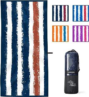 OCOOPA Serviette de Plage en Microfibre , Extra Large XL 180x85cm, Serviette Douce, légère, compacte et sans Sable à sécha...