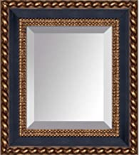 مرآة فيرونا السوداء والذهبية من لا باستيش، 37.5 سم × 32.3 سم