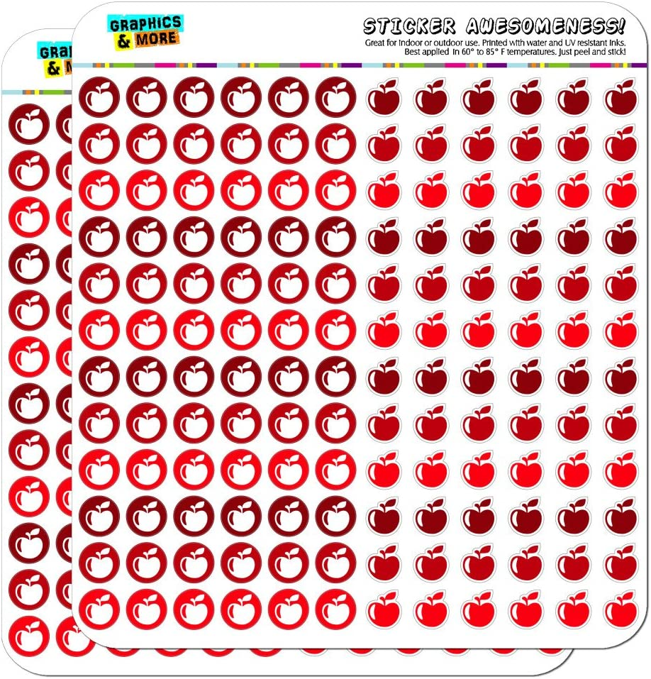 Apple Fruit Dots Planner Calendar Scrapbooking Crafting Stickers - Red - Clear