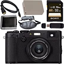 $1181 » Fujifilm X100F Digital Camera (Black) 16534651 + NP-W126 Lithium Ion Battery + Sony 32GB SDHC Card + Micro HDMI Cable + Memory Card Wallet + Card Reader + Hand Strap Bundle