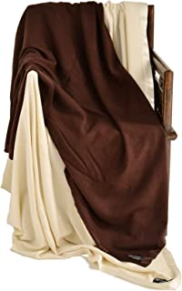 Cashmere Boutique: 100% Pure Cashmere King Blanket in 4 Ply (Color: Mocha Brown, Size: 90