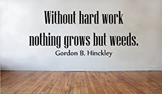 Blinggo without hard Work, Nothing Grows but Weeds removable Vinyl Wall Decal Home Dicor