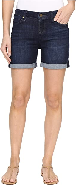 Liverpool - Vickie Rolled-Cuff Shorts Vintage Super Comfort Stretch Denim in Vintage Super Dark