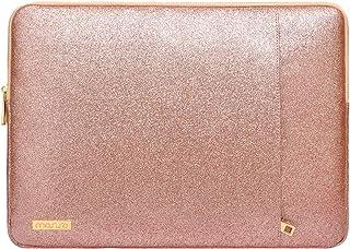 MOSISO Funda Protectora Compatible con 13-13.3 Pulgadas MacBook Pro Retina/MacBook Air/Surface Laptop 2 2018 2017/Surface Book,PU Estuche Acolchado de Estilo Vertical Bolsa Impermeable,Oro Rosa