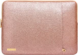 Golden Fleur De Lis with Cream Damask Pattern 17 17.3 Inch Laptop Sleeve Waterproof Neoprene Computer Case for Laptop Cute