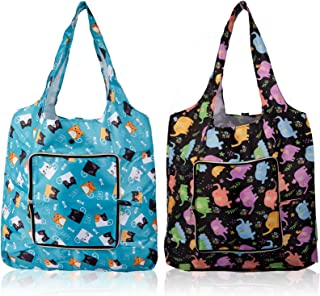 Viyuse Reusable Grocery Bag Waterproof Shopping Tote Bags Foldable with Zipper