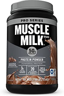 Muscle Milk Pro Series Protein Powder, Knockout Chocolate, 50g Protein, 2.54 Pound