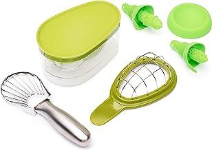 Avo Hero Ultimate paquete de aguacate – Herramientas de preparación de alimentos de grado profesional – cortador de acero ...
