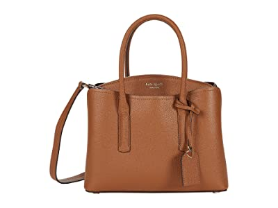 Kate Spade New York Margaux Medium Satchel (Warm Gingerbread) Satchel Handbags
