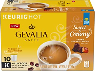 Gevalia Sweet & Creamy Salted Caramel Mocha Keurig K Cup Coffee Pods (10 Count)