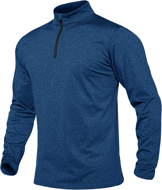 MAGCOMSEN National products Nashville-Davidson Mall Men's Running Athletic Shirts 4 1 Fleece Zip Pullover