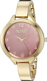 XOXO Womens Quartz Watch, Analog Display and Gold Plated Strap XO282