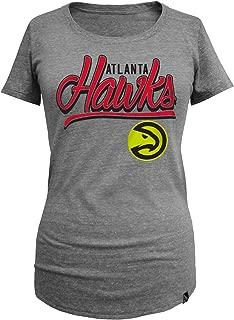 NBA Atlanta Hawks Women's Triblend Jersey Short Sleeve Scoop Neck Tee, Medium, Gray