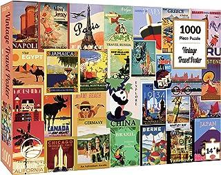 Enphiblue Puzzle 1000 Pièces pour Adultes, Vintage Poster de Voyage Jigsaw Puzzle, Design Unique Jouet éducatif pour Adole...