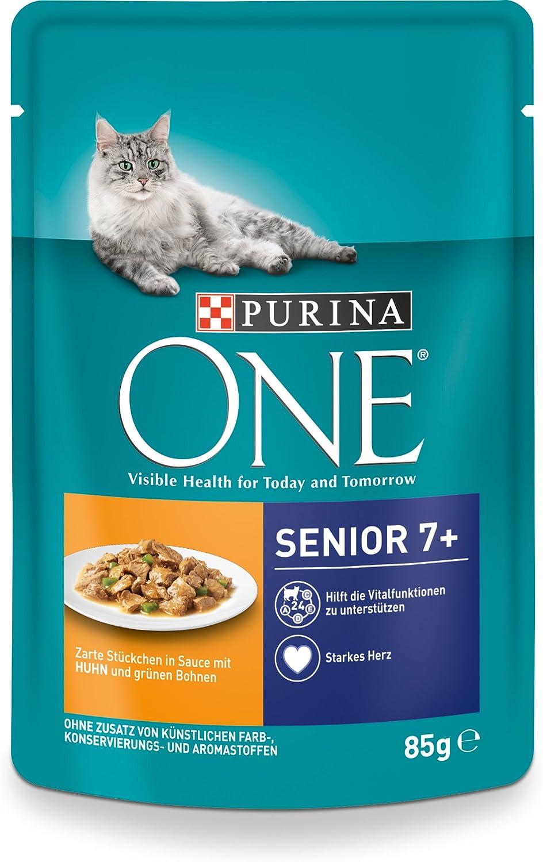 Purina One - Comida para Gatos (24 Bolsas de 85 g)