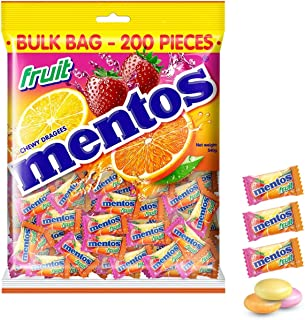Mentos Fruit Candy Pillowpack, Classic Mix of Fruity Flavours, 540g