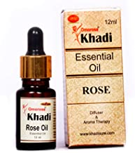 KHADI Omorose Rose Essential Oil with Self Dispensing Dropper Plug - 12ml