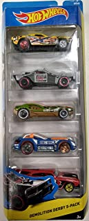 Hot Wheels 5 Gift Pack Set Off-Road Demolition Derby Series 1:64 Scale Collectible Die Cast Model Car