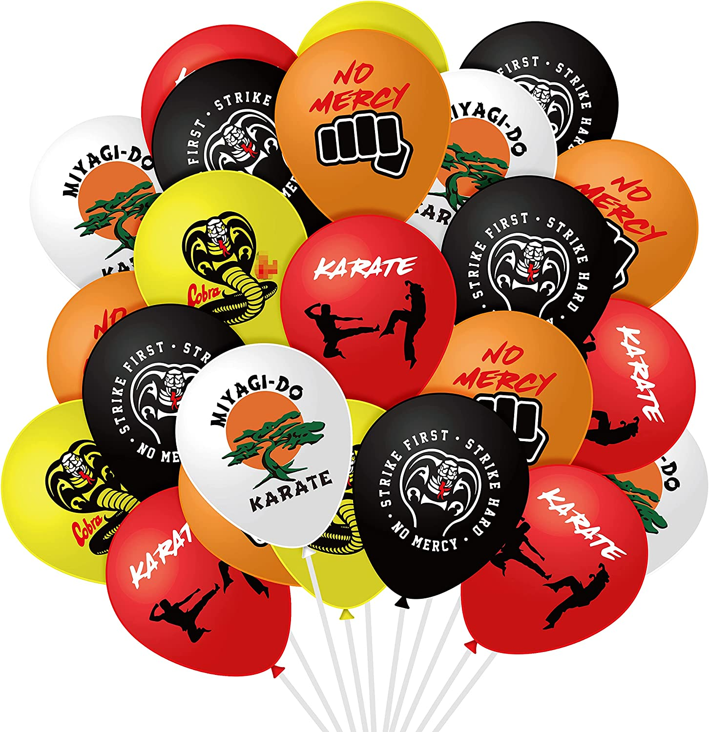 Fiupan 50Pcs Cobra Party Balloons Recommendation Strike No Hard Me Jacksonville Mall First
