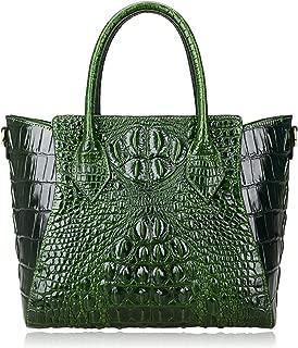 Embossed Crocodile Handbags for Ladies Designer Purses Top Handle Shoulder Bag