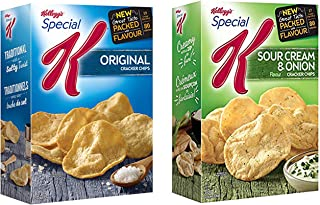 Kellogg's Special K Cracker Chips (Original and Sour Cream Onion) 2-Pack