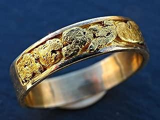 alaska gold nugget wedding bands