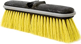"DocaPole Medium Bristle Deck Brush and Scrub Brush Extension Pole Attachment (10"")   Long Handle Scrub Brush and Deck Brus..."