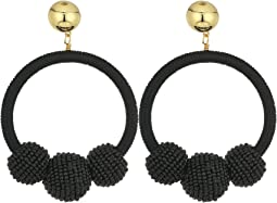 Kate Spade New York The Bead Goes On Hoop Statement Earrings