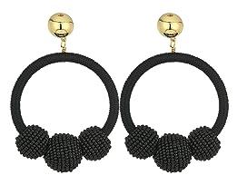 The Bead Goes On Hoop Statement Earrings