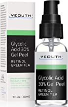 Glycolic Acid Peel 30% Professional Chemical Face Peel with Retinol, Green Tea Extract,..