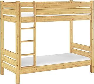 Erst-Holz Lit superposé Extra Stable pin Massif 80x200 y Compris literie, pour Enfants et Adultes 60.16-08M