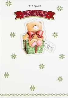 Hallmark Forever Friends Christmas Card 'for Granddaughter' - Medium