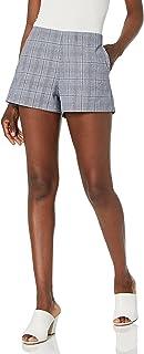 cupcakes and cashmere womens vinson linen plaid shorts Shorts