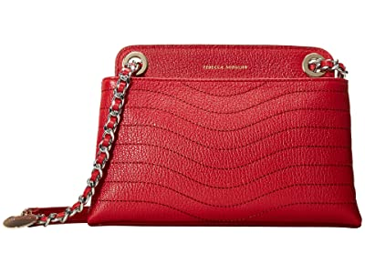 Rebecca Minkoff Mab Wave Double Zip Crossbody (Paprika) Handbags