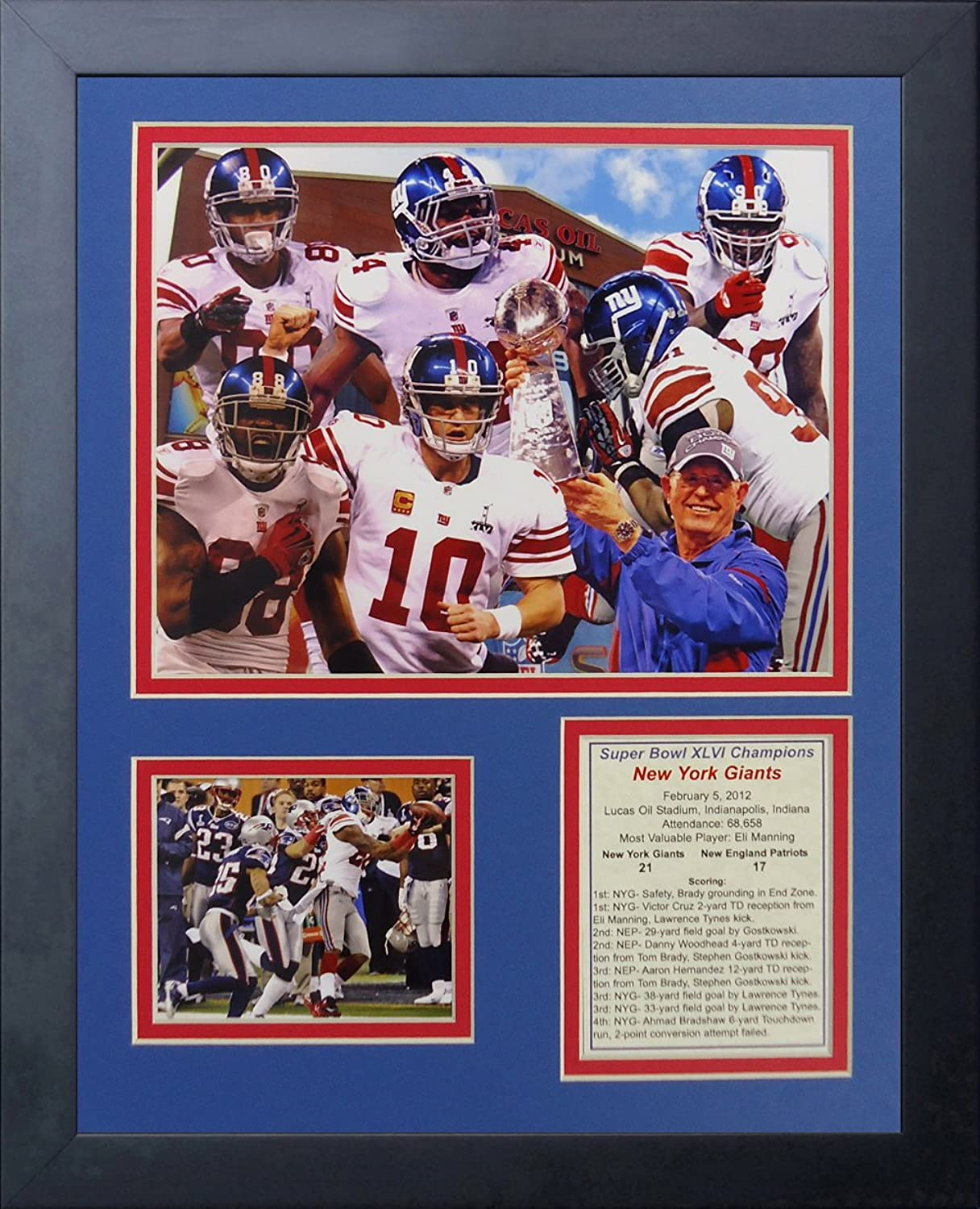 Legends Never Die 2011 New York Giants Super Bowl Champions  Framed Photo Collage, 11 x 14-Inch