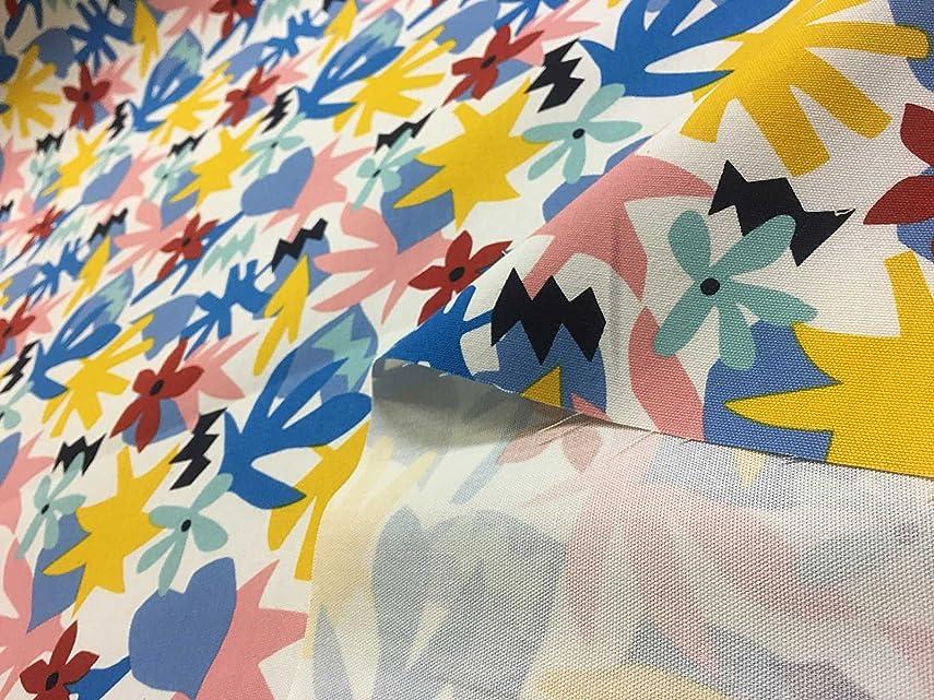 また明日ねガス素敵な布人倶楽部 オックス 幾何フラワー 108cm幅 (1m)