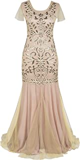 Women's Sequin Evening Dress 1920s Flapper Long Mermaid Formal Dress