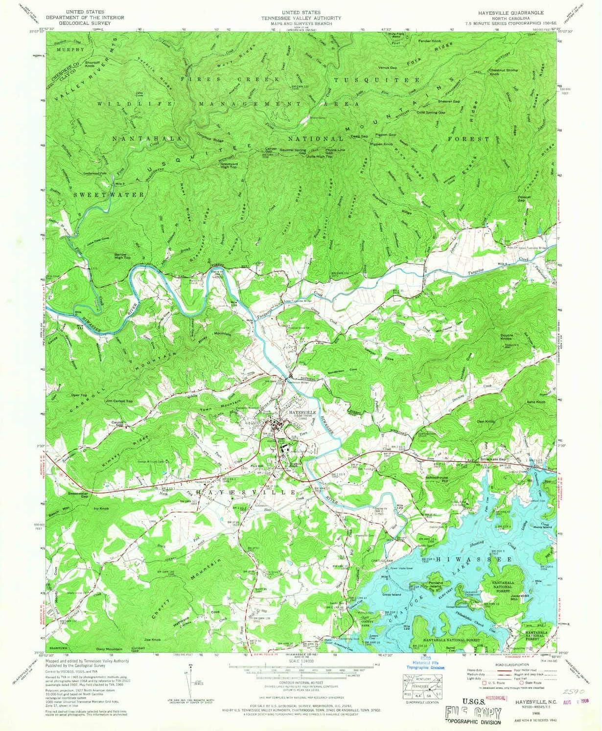 YellowMaps Hayesville NC topo map Atlanta Mall 1:24000 Scale X Minu 7.5 Max 47% OFF