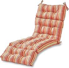 Greendale Home Fashions AZ4804-WATERMELON Coral 72 x 22-inch Outdoor Chaise Lounge Cushion