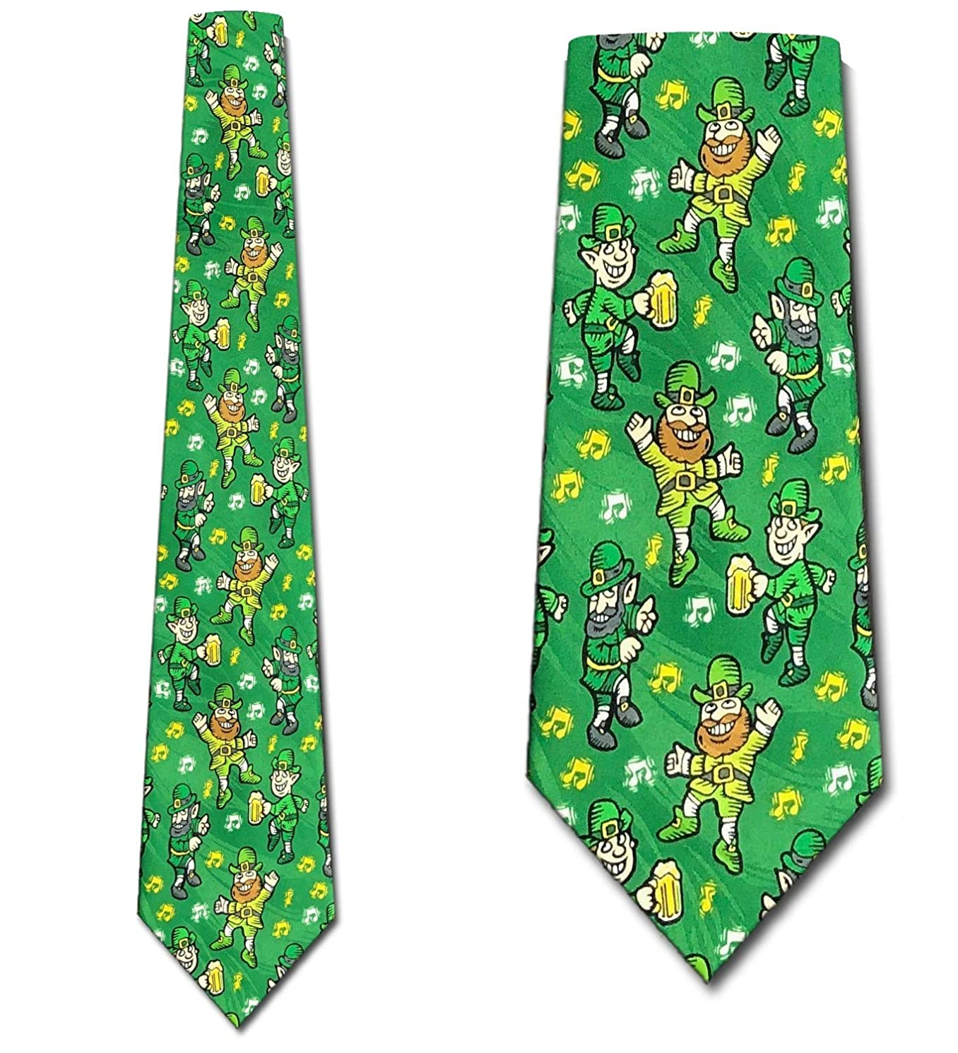 Leprechaun Ties Beer and Music NeckTie St. Patricks Day