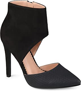 Womens' Two-Tone Ankle Cuff High Heels
