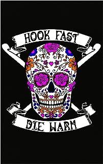 Hook Fast Die Warm Crochet Sew Stich - Poster