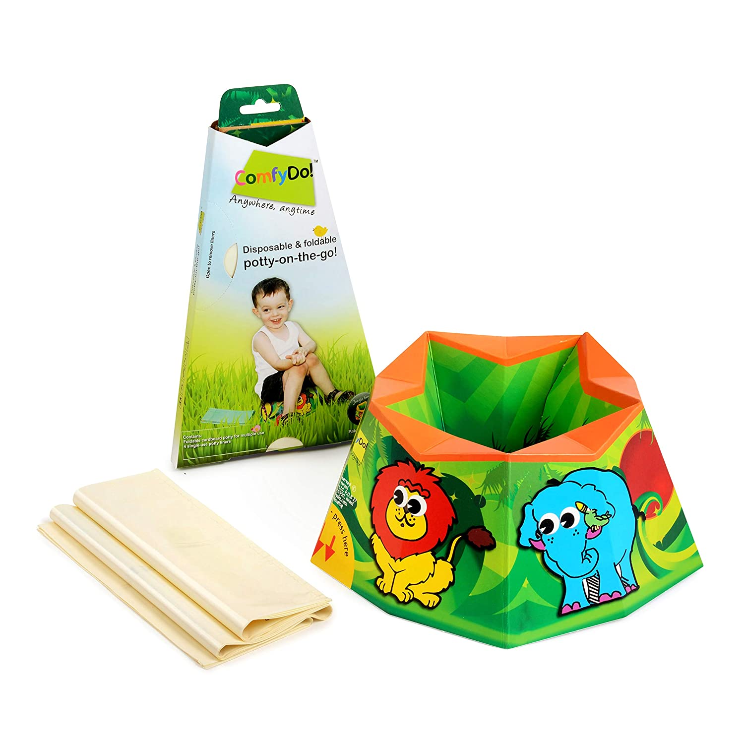 COMFYDO Foldable and Disposable Multiple-Use free Surprise price Potty Colo Travel