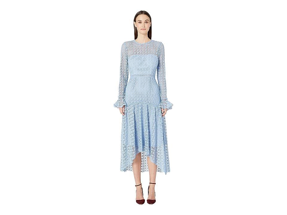 ML Monique Lhuillier - ML Monique Lhuillier Lace Dress w/ Draped Skirt