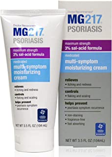 MG217 Psoriasis Medicated Multi Symptom Relief Moisturizing Cream with 3% Salicylic Acid - 3.5 oz Tube