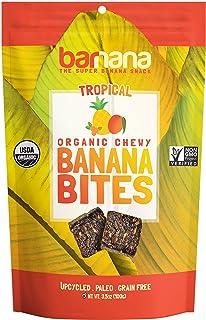 Barnana Organic Chewy Banana Bites - Tropical - 3.5 Ounce - Delicious Barnana Potassium Rich Banana Snacks - Lunch Dinner Sports Hiking Natural Snack - Whole 30, Paleo, Vegan, 1 Count