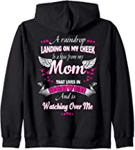 Memory Of Parents In Heaven Gift For Daughter Son Loss Mom Zip Hoodie