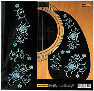 Inlay Sticker Decals for Guitar Bass - Oriental Flowers SET-Mix