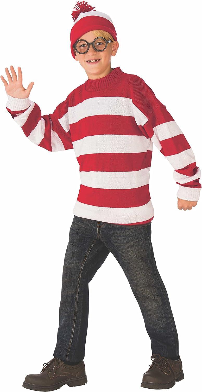 Rubie's Deluxe Child's Cheap bargain Where's Waldo Regular discount Costume